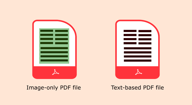 Make your PDF files text-based instead image-based